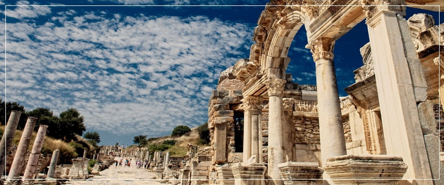Kusadasi Port Tours (Shore Excursions) : Group Tour to Ephesus Ancient City, Terrace Houses, Temple of Artemis, House of Virgin Mary, Gazibegendi Hill